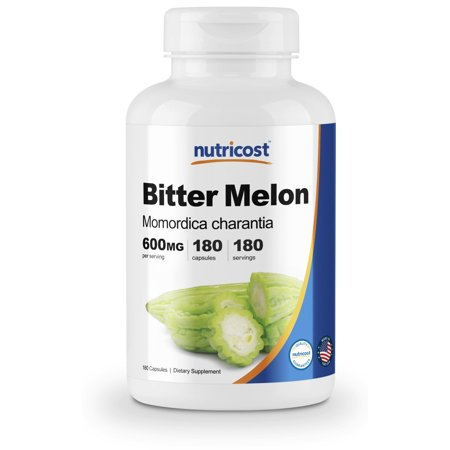 Forte 180 Capsules (Nutricost Bitter Melon 600mg, 180)