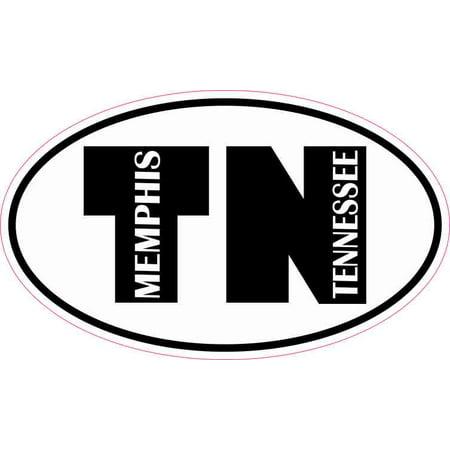 5in x 3in Oval TN Memphis Tennessee Sticker