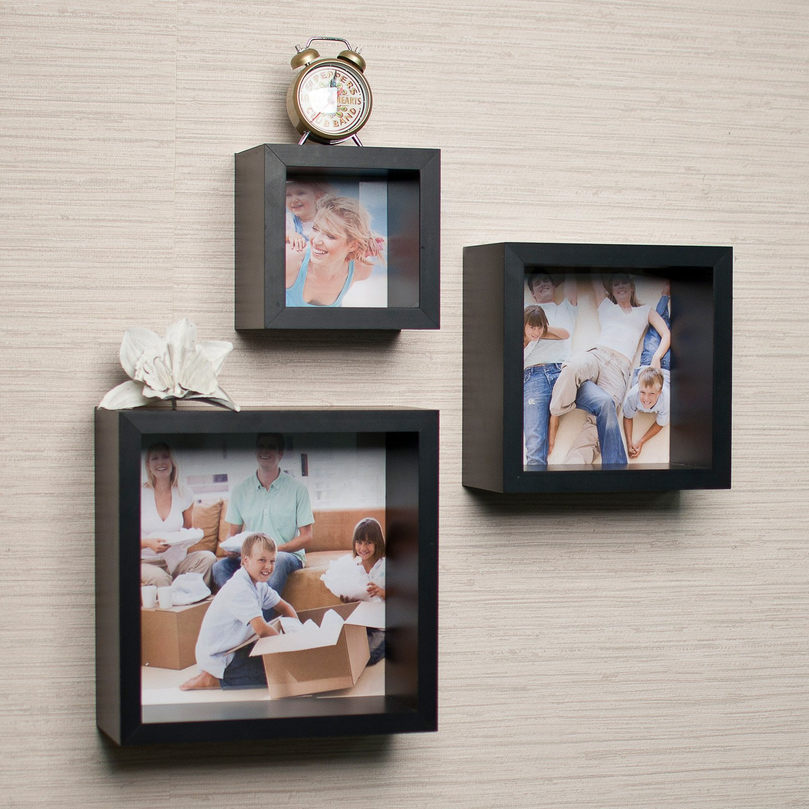Danya B Photo Frame Wall Cube Shelf Set - Set of 3