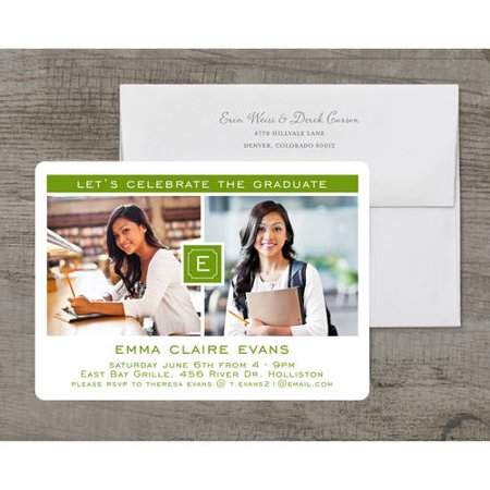 Monogram quad deluxe graduation invitation walmart this button opens a dialog that displays additional images for this product with the option to zoom in or out filmwisefo