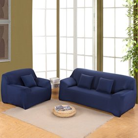 Pleasant Sofa Covers For L Shape 2Pcs Polyester Fabric Stretch Slipcovers 3 Seater 70 90 4 Seater 90 115 2Pcs Pillow Covers For Sectional Sofa Spiritservingveterans Wood Chair Design Ideas Spiritservingveteransorg