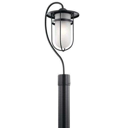 Outdoor Post 1 Light With Black Finish Aluminum Material Medium 9 inch 150 Watts