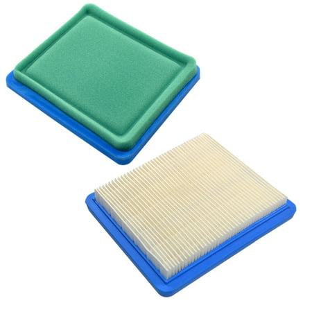 HQRP 2-pack Air Filter for Craftsman Lawn Mower Yard Vacuum Tiller with 6.5, 7.75 & 7 HP Briggs&Stratton Engines, 33644 3364 Replacement + HQRP Coaster