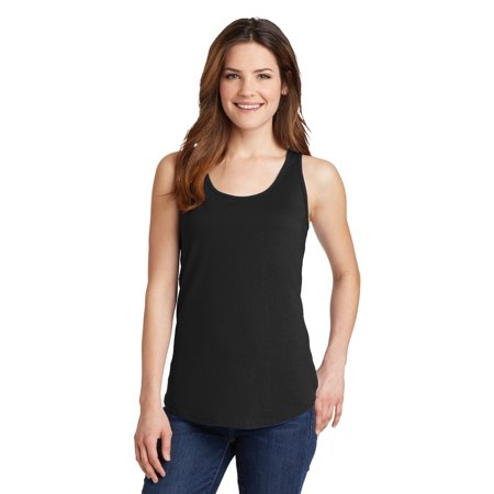 Port & Company® Ladies Core Cotton Tank Top.  Lpc54tt Jet Black M - image 1 de 1