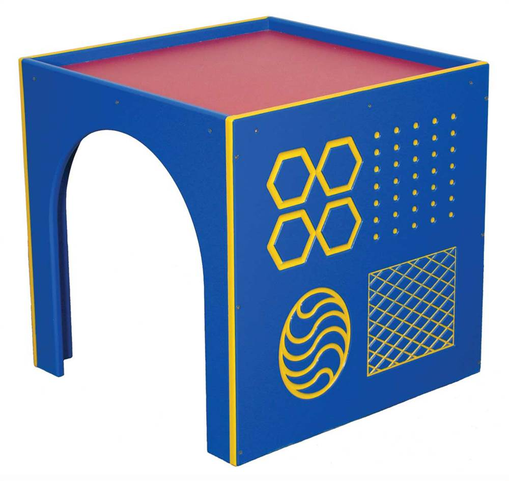 Outdoor Socialization Cube with Texture Panel