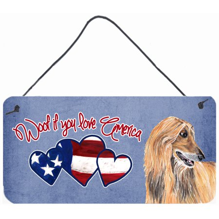 Woof if you love America Afghan Hound Wall or Door Hanging Prints SC9973DS612