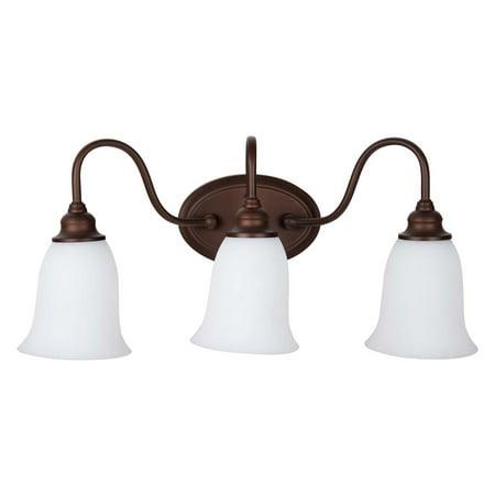 - Craftmade Linden Lane 26303 3 Light Bathroom Vanity Light
