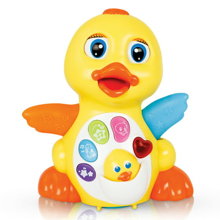 CifToys Musical Duck Toys for 1 2 3 Year Old Gifts, Toddler Toys- Dancing, Singing, Electronic Duck Toy with Lights and Adjustable Sound](Gifts For 2 Year Olds)