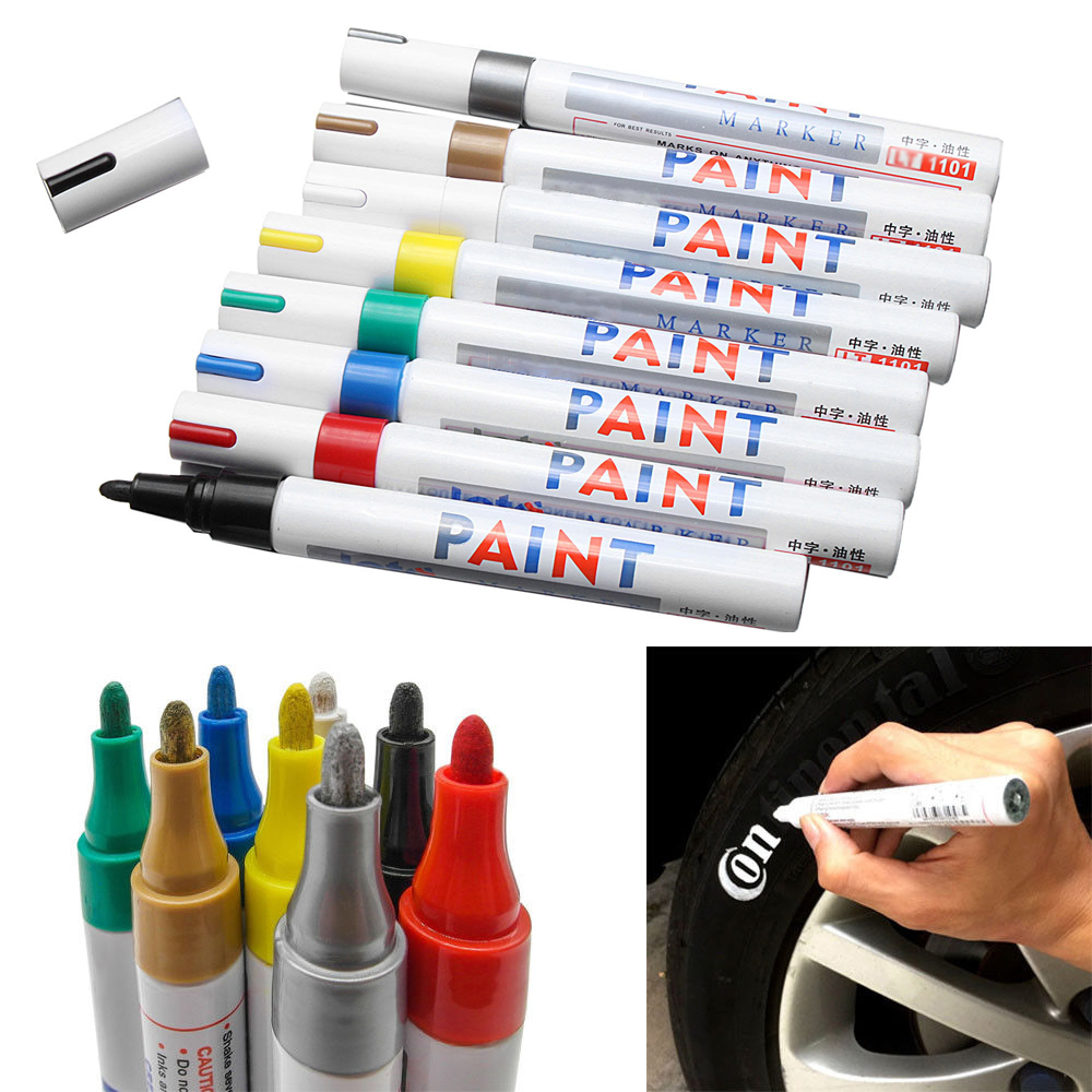 12 Colors Tire Permanent Paint Marker Pen Car Tyre Rubber Universal Waterproof Oil Based