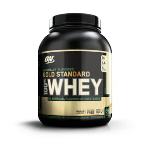 Optimum Nutrition 100% Natural Whey Gold Standard, Vanilla, 24g Protein, 4.8 Lb