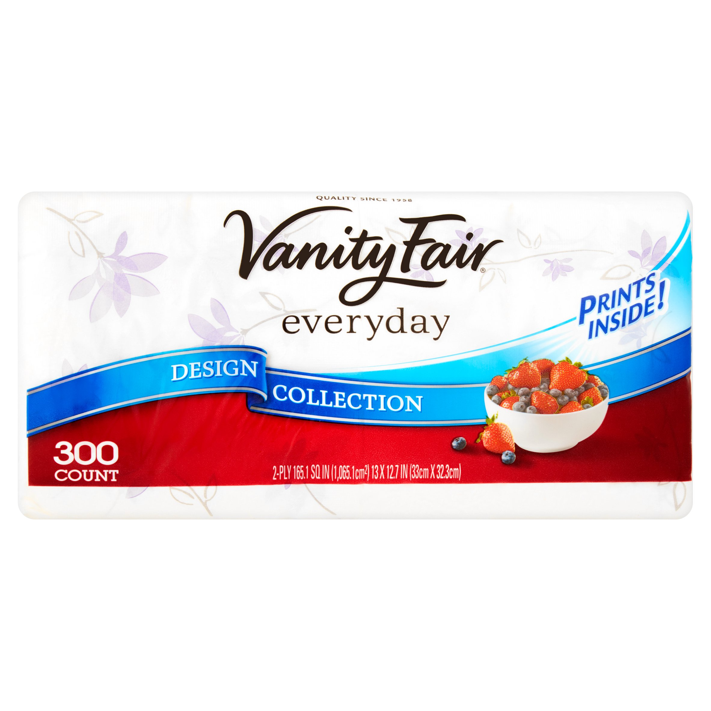 Vanity Fair Everyday Design Collection Paper Napkins, 300 count