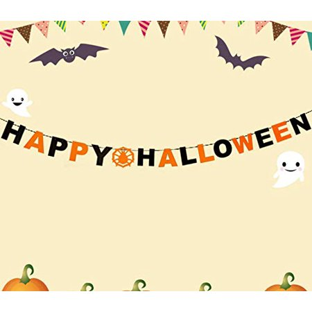 Halloween Party Decoration Kit,Happy Halloween Banner for Halloween Party Birthday Event Decorations Door Cover Garden Gift Set