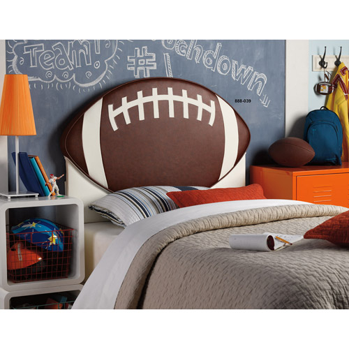 Upholstered Sports Theme Twin Headboard, Multiple Designs