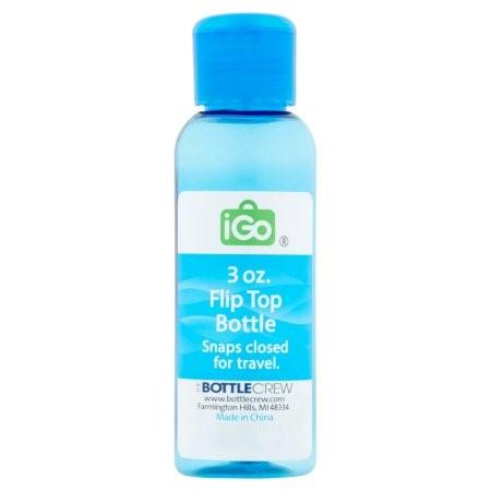 iGo Flip Top Bottle, 3 Oz