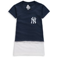 New York Yankees Refried Apparel Girls Toddler T-Shirt Dress - Navy