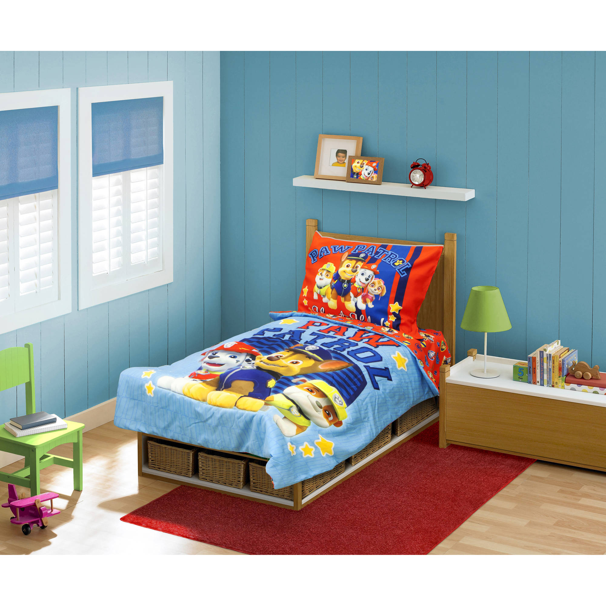 BabyBoom Nick Jr PAW Patrol 4 Piece Toddler Bedding Set Here To Help    Walmart.com