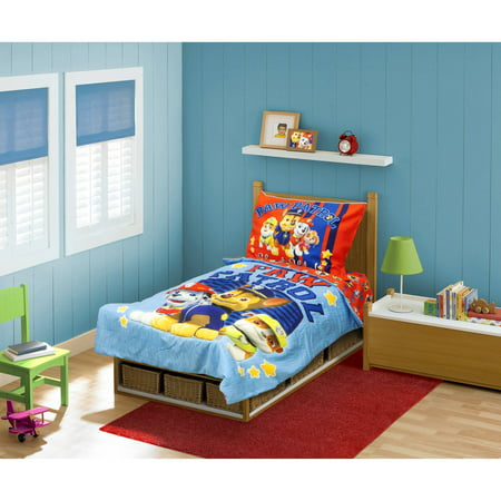 BabyBoom Nick Jr PAW Patrol 4-Piece Toddler Bedding Set Here to Help