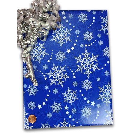 Blue Snow Flake Gift Wrapping Paper 24