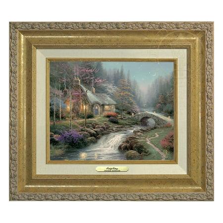 Thomas Kinkade Twilight Cottage - Canvas Classic (Gold (Thomas Kinkade Oil Painting)