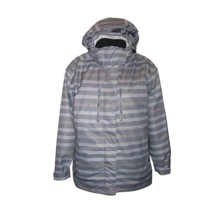 Pulse Women's 3in1 Boundary Striped Snow Ski Jacket Coat Gray