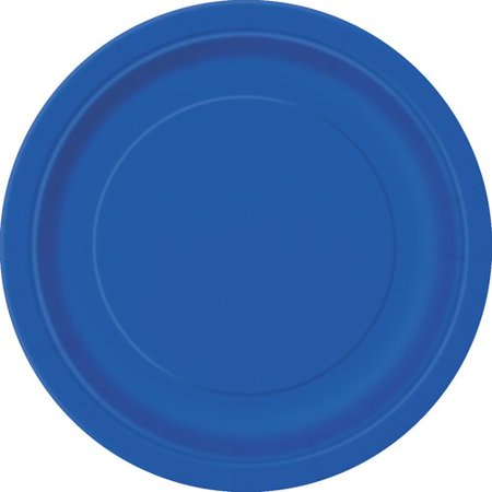 Royal Blue Paper Dessert Plates, 7in, 50ct (Purple Dessert)