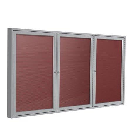 Ghent Ghent 3 Door Enclosed Vinyl Letter Board With Bronze Aluminum