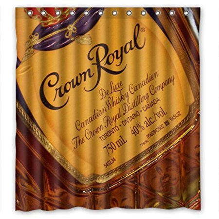 Crown Royal Drink (Ganma Drink Crown Royal Shower Curtain Polyester Fabric Bathroom Shower Curtain 66x72 inches )