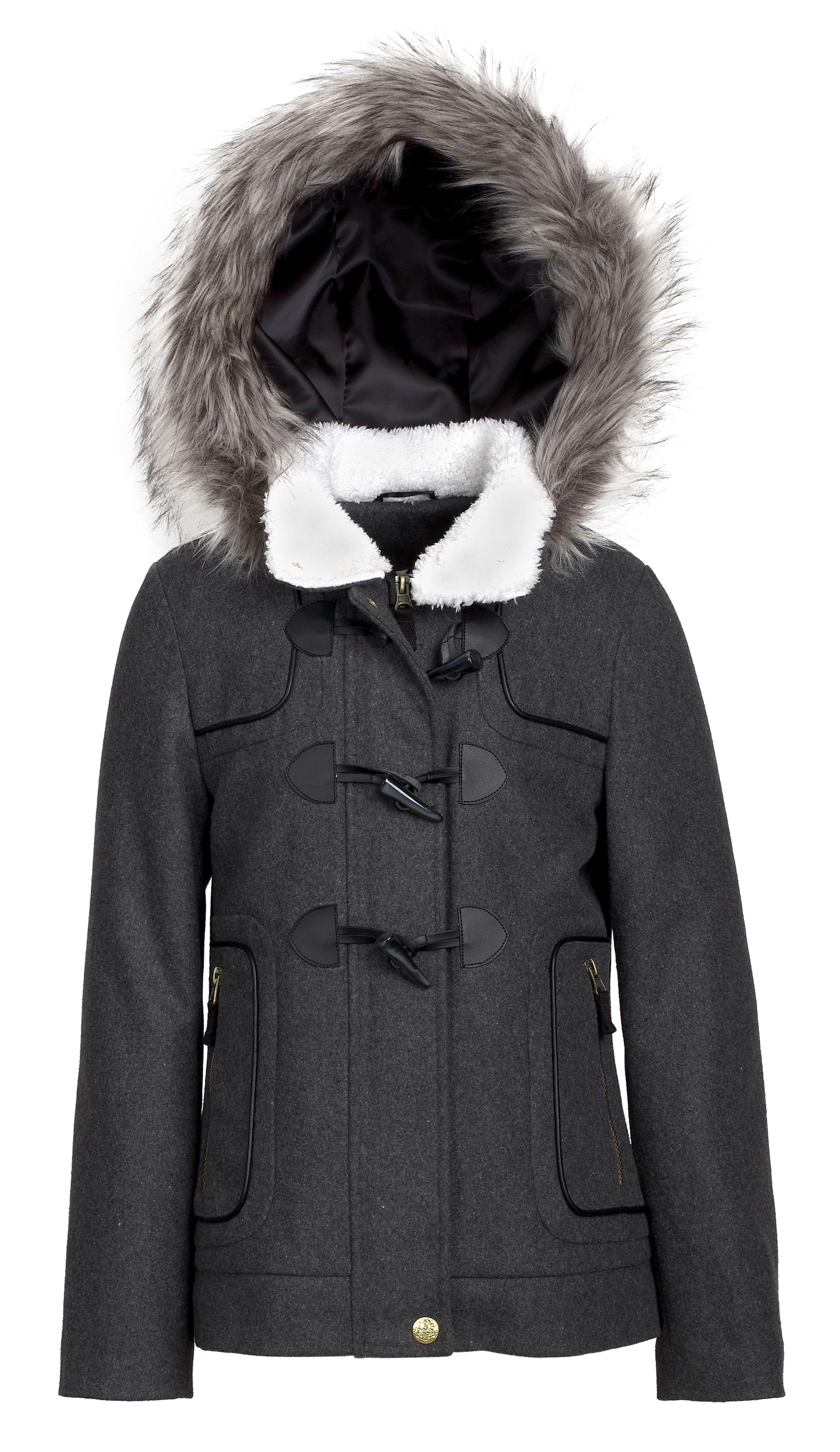 055206261 London Fog - London Fog Girls Classic Wool Blend Hooded Winter ...