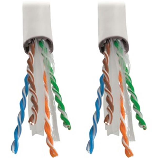 25 Foot White Cat6 UTP Plenum CMP Rated Ethernet Patch Cable by Custom Cable Connection