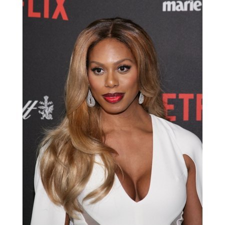 Laverne Cox At The After Party For The Weinstein Company   Netflix 2016 Golden Globe After Party Canvas Art     16 X 20