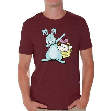 Awkward Styles Dabbing Easter Bunny Shirt for Men Easter Bunny Tshirt Easter Shirt for Men Happy Easter Easter Gifts for Him Easter Bunny T Shirts Easter Holiday Shirts Easter Basket Stuffers