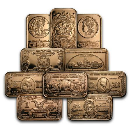 Coins & Paper Money Energetic 1oz Copper Bullion Bar