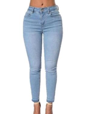 9ef31d33fe550 Product Image Women Denim Skinny High Waist Jeans Blue