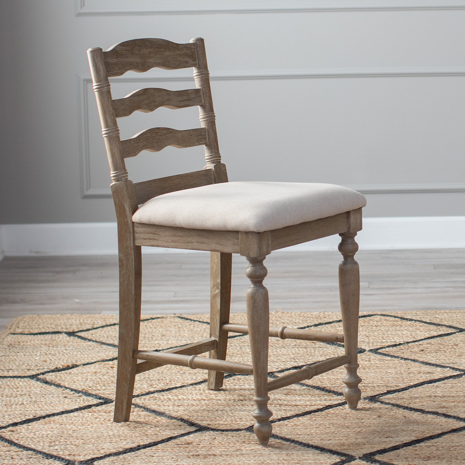Belham Living Delaney Counter Stool Gray by Linon Home Decor Products Inc
