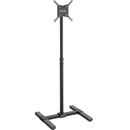 vivo display tv floor stand height adjustable mount for flat panel screen 13 to 42 stand tv07. Black Bedroom Furniture Sets. Home Design Ideas