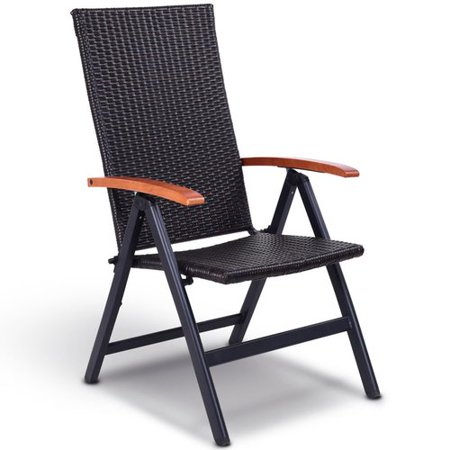 Costway Patio Garden Plastic Folding Chair Walmart Com