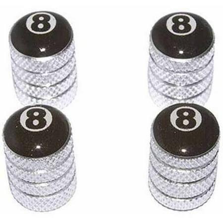 Eight 8 Ball Billiards Tire Rim Wheel Aluminum Valve Stem Caps, Multiple