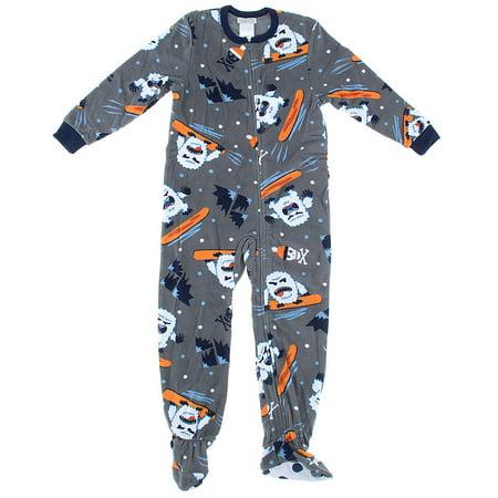 Komar Kids Big Boys' Yeti Fleece Blanket Sleeper, Gray, X-Small