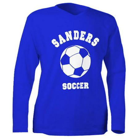 Personalized kids sports ls t shirt royal for Walmart custom made t shirts