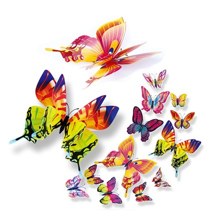 3D DIY Pin type Home Decor Butterfly Curtain Dress Decorate Accessory