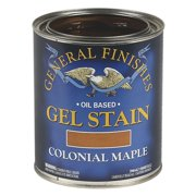 General Finishes, Gel Stain, Oil Based, Colonial Maple, Pint
