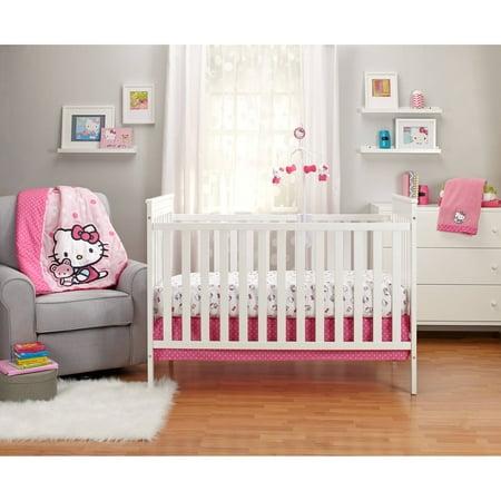 Hello Kitty Cute as a Button 3-Piece Crib Bedding