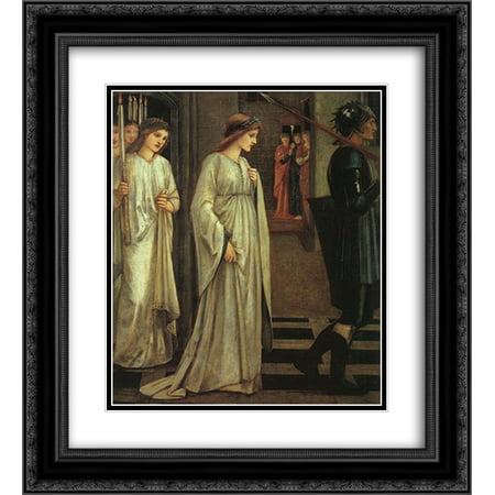 Edward Burne Jones 2X Matted 20X22 Black Ornate Framed Art Print The Princess Sabra Led To The Dragon Painting