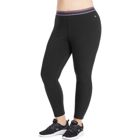 Champion Low Rise Tights (Champion Women's Plus Authentic 7/8 Tights - Size - 2XL - Color - Black)