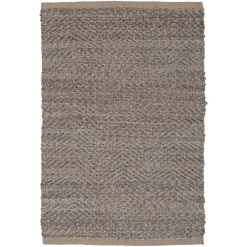 LR Resources Natural Fiber Medium Gray Area Rug
