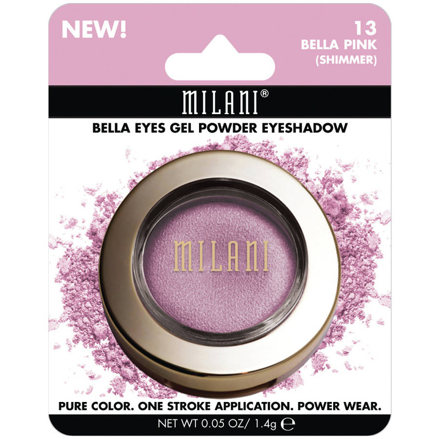 Milani Bella Eyes Gel Powder Eyeshadow, 13 Bella Pink Shimmer, 0.05 oz