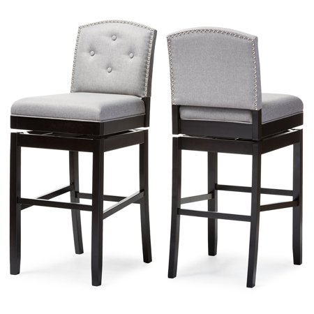 Baxton Studio Ginaro 30 in. Bar Stool - Set of 2 ()