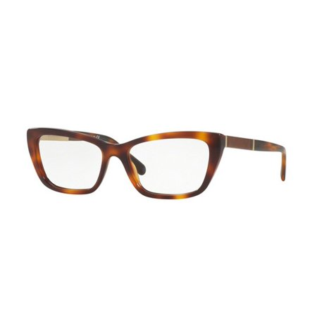 Burberry BE2236F-3316 Cat Eye Women's Light Havana Frame Genuine Eyeglasses NWT
