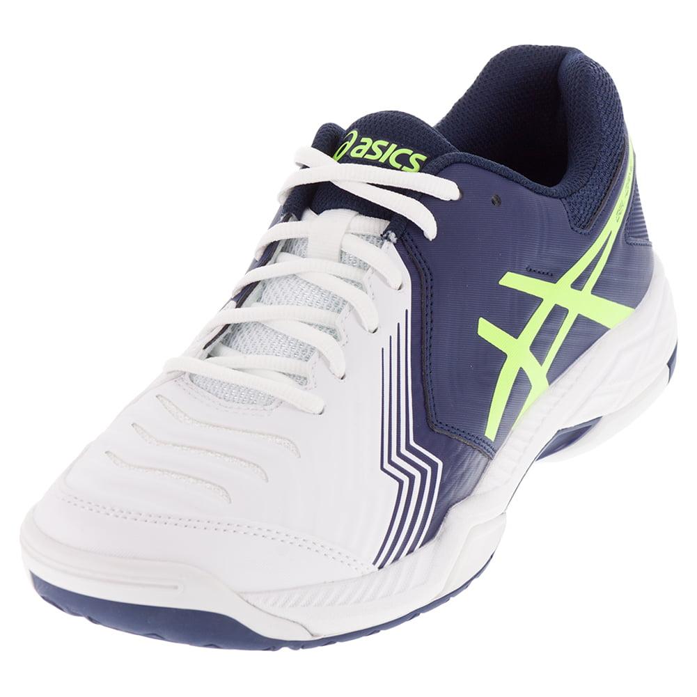 s gel 6 tennis shoes white and indigo blue
