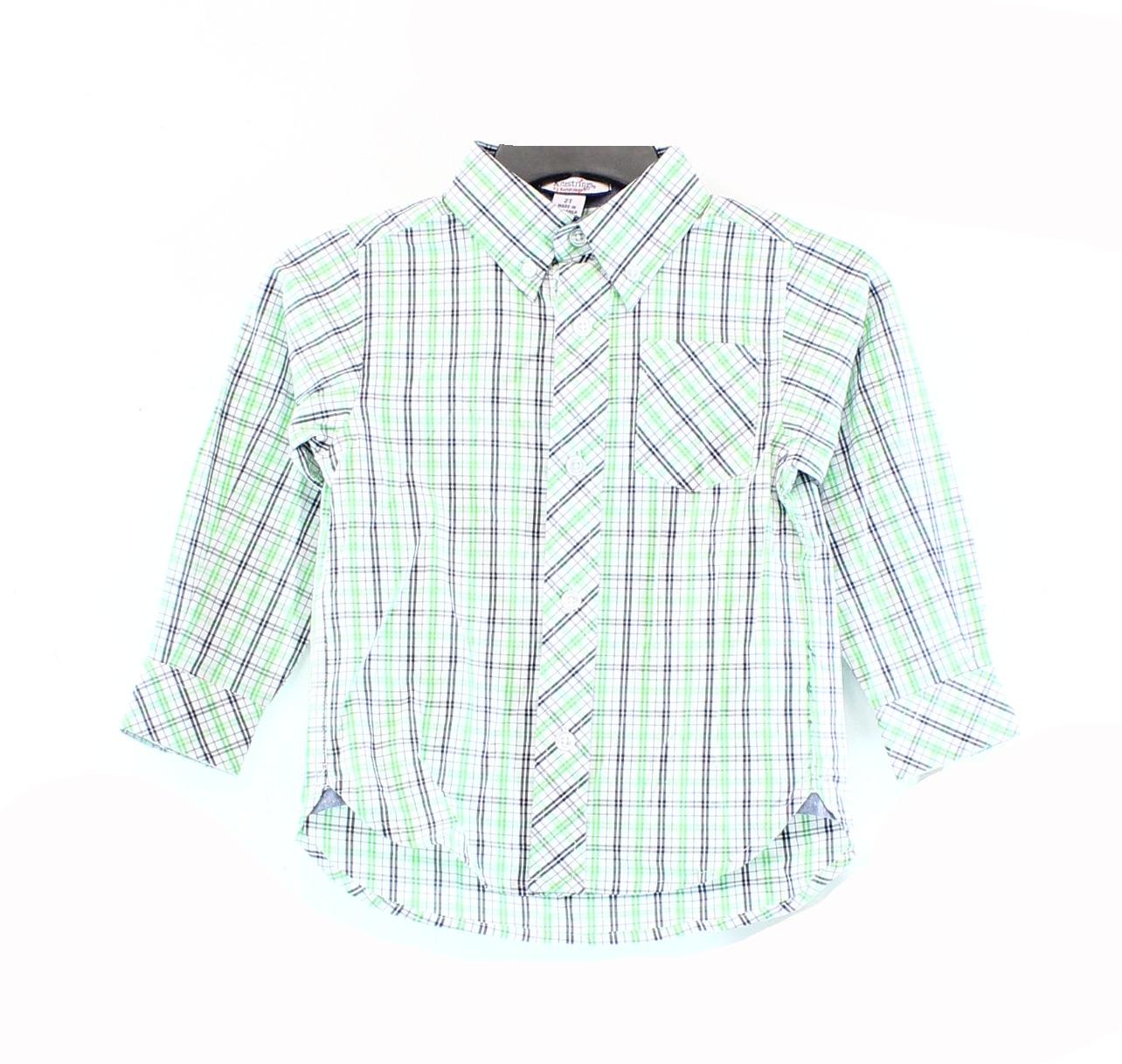 Kitestrings NEW Green White Baby Boys Size 2T Button Down